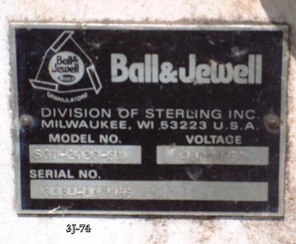 Ball & Jewell Grinder, Model Sgu-2026-sx