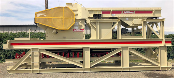 "NORDBERG Portable Plant with C 80 (32"" x 20"") Jaw Crusher, Grizzly Feeder & Underconveyor"