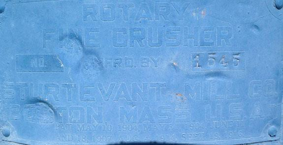 Sturtevant Rotary Fines Crusher With 3 Hp Motor