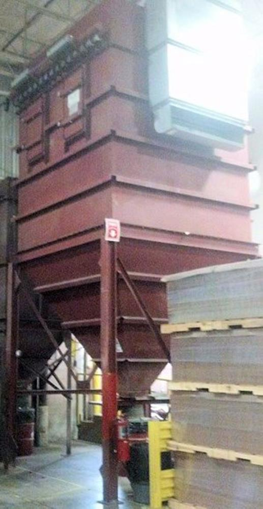 "MIKRO-PULSAIRE Model 256S-8-20 ""C"" Dust Collector, 256 ea 8' L polyester bags, 2412 sq. ft surface area, 34,000 CFM, 20"" W.C."