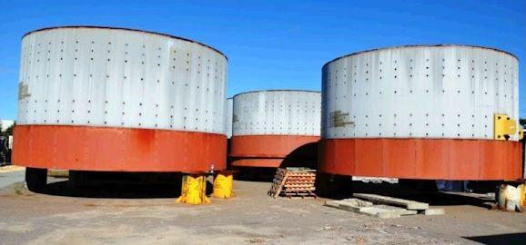 2 Units - UNUSED POLYSIUS 24' x 41' (7.3m x 12.5m) EGL Ball Mill with 2 Units 9,387 HP (7,000 kW) Motors