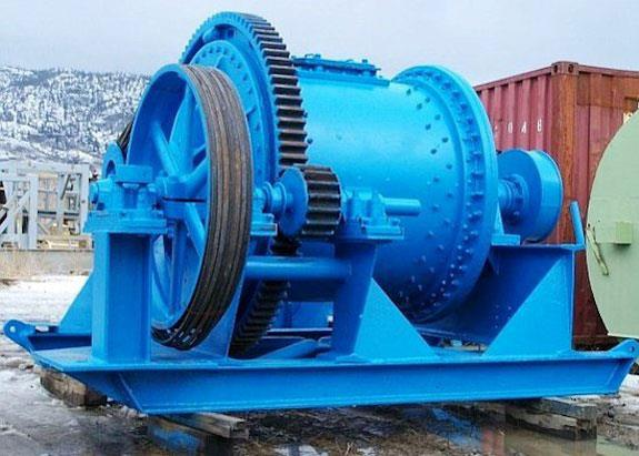 UNION IRON WORKS 4' x 4.5' Refurbished Skid Mounted Ball Mill with 50 HP Motor