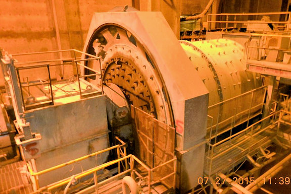 NORDBERG 15' x 19' Ball Mill with 3000 HP Motor