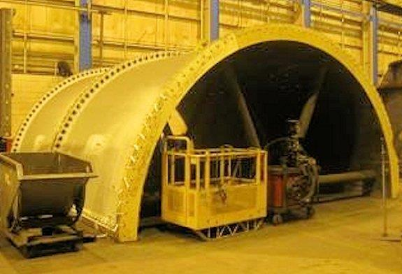 UNUSED METSO 22' x 41' (6.7m x 12.5m) Regrind Ball Mill with 2 x 6,705 HP (5,000 kW) Motors (Total 13,410 HP/ 10,000 kW)