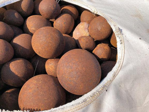 "Approximately 200-Tons of Used Grinding Balls, approximately 1""-4"" mixed size"