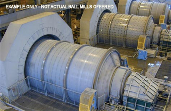 Lot Of (2) Unused F.l.smidth (fuller-traylor) 22' X 36.5' Ball Mills With Dual 4,900 Kw (6,662 Hp) Motor Drives