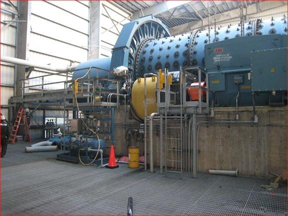 Metso 13.5' X 28' (4.1m X 8.53m) Ball Mill With 2,800 Hp (2,088 Kw) Motor