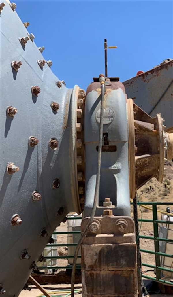 """8' X 22"""" HARDINGE CONICAL BALL MILL - Nelson Machinery ...  Conical Ball Mill"""