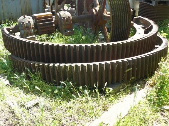 Lot of Parts for MARCY 7' x 7' Ball Mill, including Bull Gear