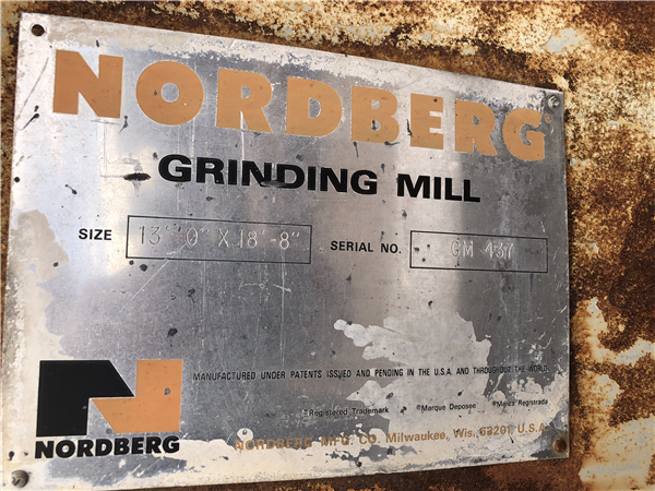"Nordberg 13' X 18'8"" (4m X 5.7m) Rod/ Ball Mill With 1,500 Hp (1,120 Kw) Motor."