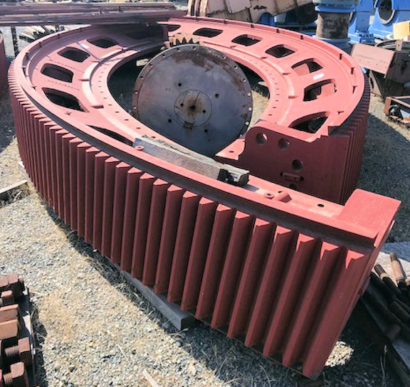 Parts From Allis Minerals (svedala) 30' X 7' Egl Sag Mill, Including Bull Gear, Pinion Gear, Lube Units And More