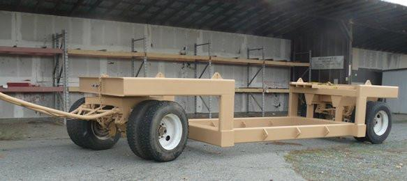 Shop Fabricated Trailer Designed For 9' X 12' Ball Mill