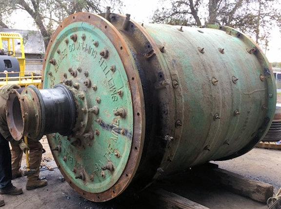 "MARCY 6'7"" dia x 6'9"" L Ball Mill with 125 HP motor"