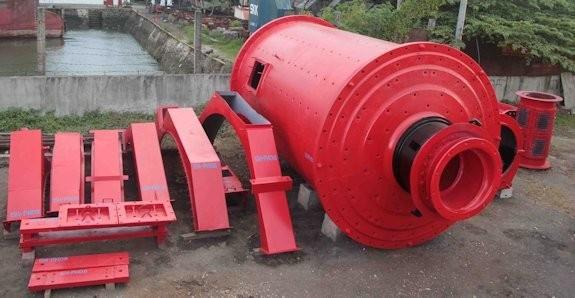 KOBE-ALLIS 9' x 15'  (2.75m x 4.57m) Regrind Ball Mill, no Motor
