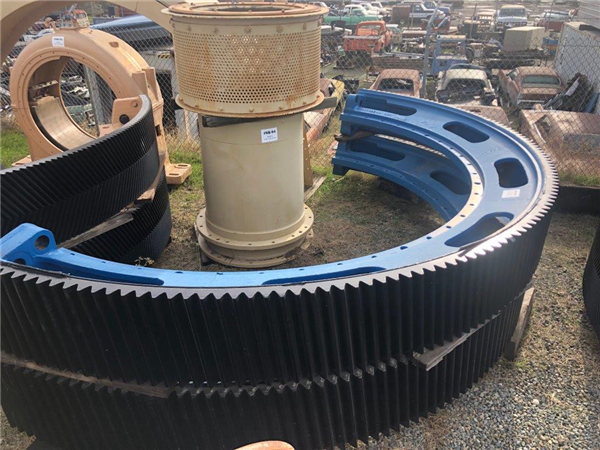 "Lot of Spare Parts from KVS 11'6"" X 18' Ball Mill, including Bull gear and rubber liners"