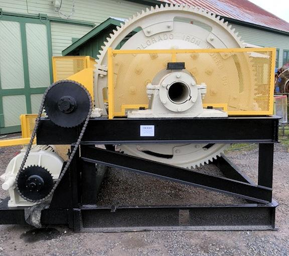 Colorado Iron Works 4' X 5' (1219mm X 1524mm) Skidded Ball Mill With 25 Hp Motor