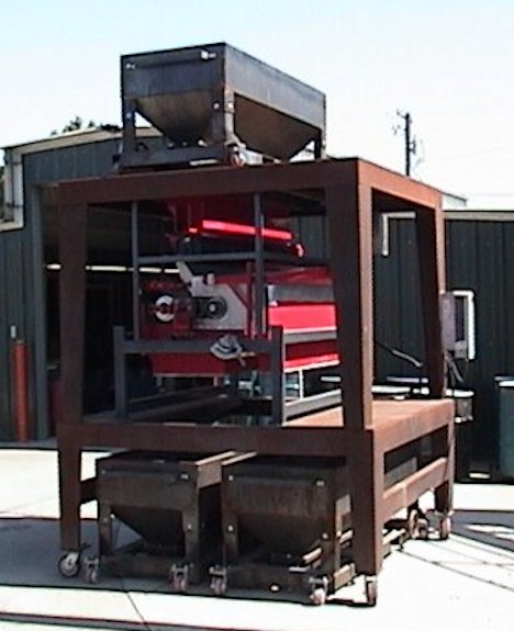 2 Units - Eriez Rare Earth Roll Magnetic Separators, Model Re-60-1, Single Roll. One Unit With Mobile Operating Stand