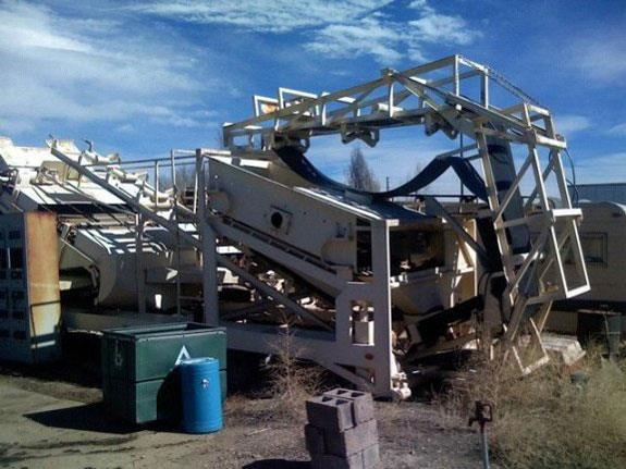 Mineral System Inc Model S-100-c Dry Air Concentrator, 55 Tph With Dd Screen, Radial Stacking Conveyor And Mounted On Trailer