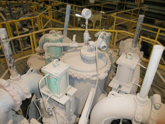 "2 Units/pods Of (4) Krebs Hydrocyclones, Model #ds15lb-10. 5-2152, Rubber-lined, 8"" Overflow, 6"" Inlet"