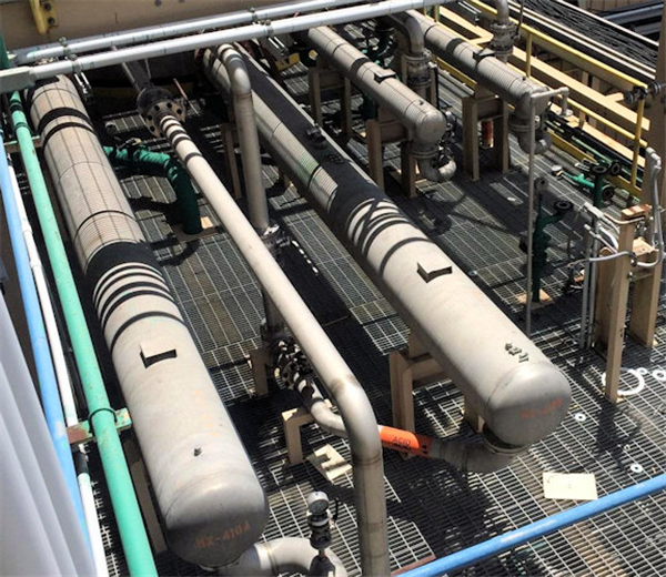 2 Units - 10.5' dia x 8.4' L Shell & Tube Heat Exchangers, 57 SF