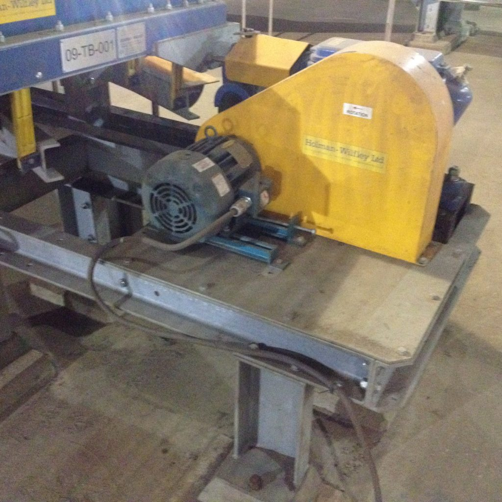 HOLMAN WILFLEY Model 8000 Right Hand Scavenger Table, Particle Size 70-170 Mesh with 2 HP motor