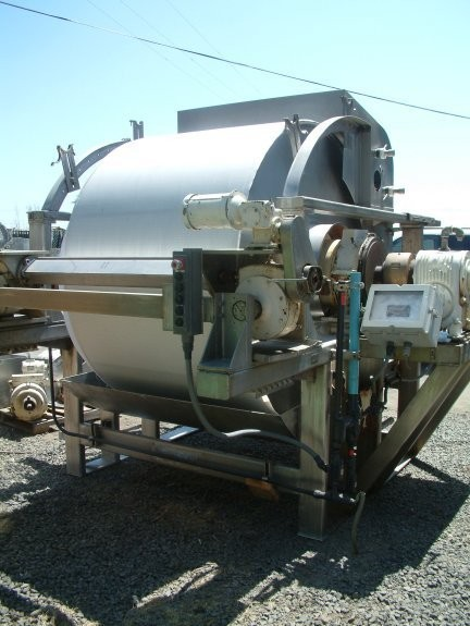 Ametek Rotary Vacuum Filter, 6' Dia. X 4' Face, Ss Drum, Rotary Left Hand