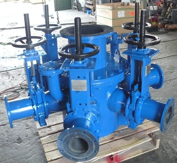 Unused Warman 5-cyclone Cluster, Model 400 Cvx10, With Distributor And Weir Sz 6 Isogate Slurry Valves
