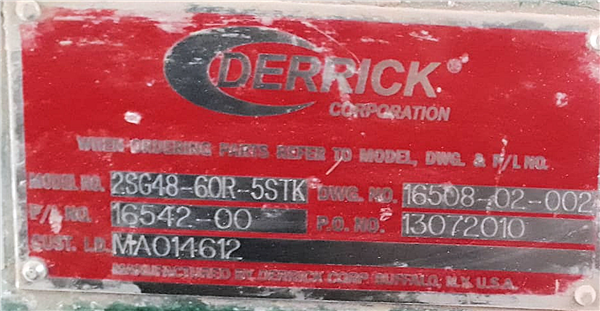 13 Units - Derrick 5-deck Stack Sizers, Model 2sf48-60r-5stk/2sg48-60r-5s1k
